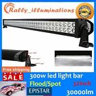 "52""300W FLOOD SPOT COMBO LED Work Light Bar Offroad Driving Lamp SUV Car Boat4WD"