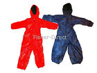 childrens all in  one fleece lined rain suit girls boys waterproof kids childs