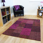 Purple Patchwork Thin Modern Rugs Stylish Quality Cotton Damask Living Room Rugs
