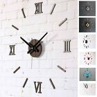 Antique Style 3D DIY Wall Clock Acrylic Roman Art Numeral Modern Home Decoration