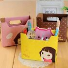 storage box Lovely Biscuits girl Makeup Pen DIY folding storage box  A220