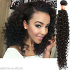 "100% Natural 6A Malaysian Curly Wave human hair extensions 10""-30"" 3Bundle Afro"
