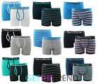 Mens 2 Pack Plain Stripe Hipster Keyhole Button Fly Boxer Shorts Trunks S M L XL