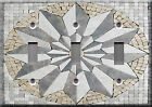 Light Switch Plate Cover - Medallion marble mesh faux finish - Decoration star
