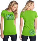 LOVE MOTO TEE SHIRT TOP WOMEN GIRL MX MOTOCROSS DIRT BIKE RACE LIME KX KAWASAKI