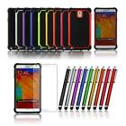 2 Piece Dual Layer Rugged Rubber Hard Case Cover for Galaxy Note 3 III N9000