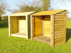 SINGLE 4FT MIDI OUTDOOR WOODEN LOG STORE - ALSO AVAILABLE WITH DOORS.