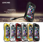 New Waterproof Shock Aluminum Gorilla Glass cover Metal Case For iPhone 6 6 Plus