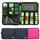 3 Colors Large Cable Organizer Bag Carry Case can put 2 Pcs HDD USB Flash Drive