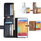 Luxury Leather Flip Wallet Case 7 Card Slots Cover For Samsung Note 4 IV N9100