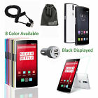 EEEKit for OnePlus One+,Metal Bumper Frame Case+Tempered Glass Film+Car Charger