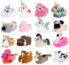 Womens Childrens Girls Novelty Character Plush Slippers Ladies Booties Shoes 3-8