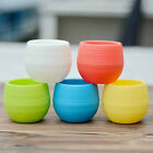 7 / 10cm Colourful Mini Round Plastic Plant Flower Pot Home Office Decor Planter