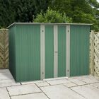 NEW METAL STORAGE SHEDS BUDGET STEEL  PENT ROOF 8 x 4