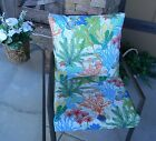 Whimsical Coastal Fish Cushion ~ Pillow Set for Patio Dining Chair ~ Choose Size