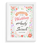 Personalised wedding sign INDIE FLORAL WELCOME SIGN retro vintage aisle sign kee