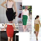 Womens Pinup High Waist Cocktail Party Business Career Bodycon Pencil Skirt