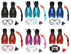 TBF Mask + Snorkel + F52 Fins/Flippers PVC Snorkelling Diving Full Combo Set
