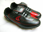 Clarks Football Boots JNR Artistry Black/Red with Velcro Fastening and Studs