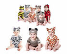 Baby Boy Girl Clothes, Animal Party Ladybird Cow Onesie & Hat Costume Set 3-24M