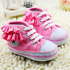 Baby gril pink leisure Crib Shoes soft soled Shoes Size 0-6-12-18 month