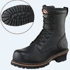 Red Wing Mens IRISH SETTER LOGGER 8 Inch Black Leather Safety Toe Boots 83818