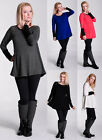 MIJA / Elegant Maternity tunic blouse pullover sweater top wity zipper UK 8-14