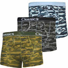 3  Mens Camouflage Camo Boxers Shorts Trunks Army Print S M L XL XXL