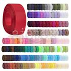 1 Roll Polyester Grosgrain Ribbon Craft Wedding Decorating 6-38mm 40 Colors