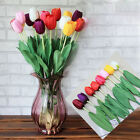 Artificial Tulip Silk Flowers Leaf Floral Party Home Garden Wedding Vase Decor