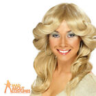 70s Flick Wig Blonde ABBA Farrah Fawcett Charlie's Angels Fancy Dress Costume