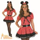 Sexy Missy Minnie  Costume Womens Cartoon Fairy Tale Mouse Fancy Dress Costume