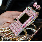 Pink Luxury Bling Swarovski Elements Bottle Flip Case Cover for iPhone 6 6 PLUS