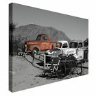 Abandoned Trucks Desert Canvas Art Cheap Wall Print Home Interior