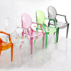 Plastic Arm Chair Barbie Blythe Color Transparent Dollhouse Miniature 1:6 Scale