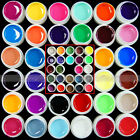 12/24/36/48/60/72 Colors Choices Pure Glitter Solid UV Gel Nail Art Bulider Sets