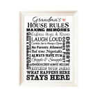 Grandparents House Rules Word Print UNFRAMED Nana Grandad Grandma Gift  P131