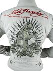 NEW ED HARDY CHRISTIAN AUDIGIER WOMEN'S PREMIUM JACKET WHITE PANTHER SIZE XS
