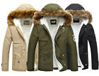 Winter For Men Faux Fur Collar Jackets Hoodies Coats Trench Parka Formal Outwear