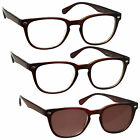 2 x Reading Glasses 1 x Sun Readers 3 Pack Mens Womens Brown UVRSR3PK015