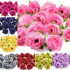 50pcs Silk Artificial Tea Rose Flowers Heads Wedding Party Home Decor 26 Colors