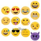 Lovely Yellow Emoji Smiley Stuffed Plush Emoticon Round Cushion Pillow Toy Dolls