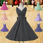 VINTAGE 50S 1950S STYLE ROCKABILLY RETRO SWING PINUP PARTY PROM BRIDESMAID DRESS
