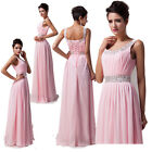 NEW Long Chiffon Sleeveless Evening Formal Party Ball Gown Prom Bridesmaid Dress