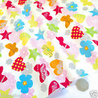 "per 1/2 metre/fat quarter 100 % cotton poplin CANDY - white fabric 44"" wide"