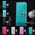 Luxury leather Elegant Crystal Wallet Flip Stand case cover for iPhone 6 /6 Pius