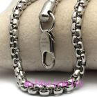 Mens Chain Womens Bracelet 5mm 316L Stainless Steel Square Box Chain Necklace