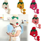 Cute Baby Infant Girls Toddler Winter Warm Knitted Crochet Strawberry Hat Cap