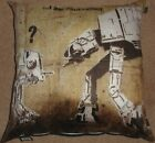"""Banksy 24""""x24"""" cushion cover Faux Suede 6 Designs, Very unusual"""