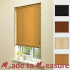 MADE TO MEASURE WOOD EFFECT VENETIAN BLINDS PVC CUSTOM SIZE BLIND